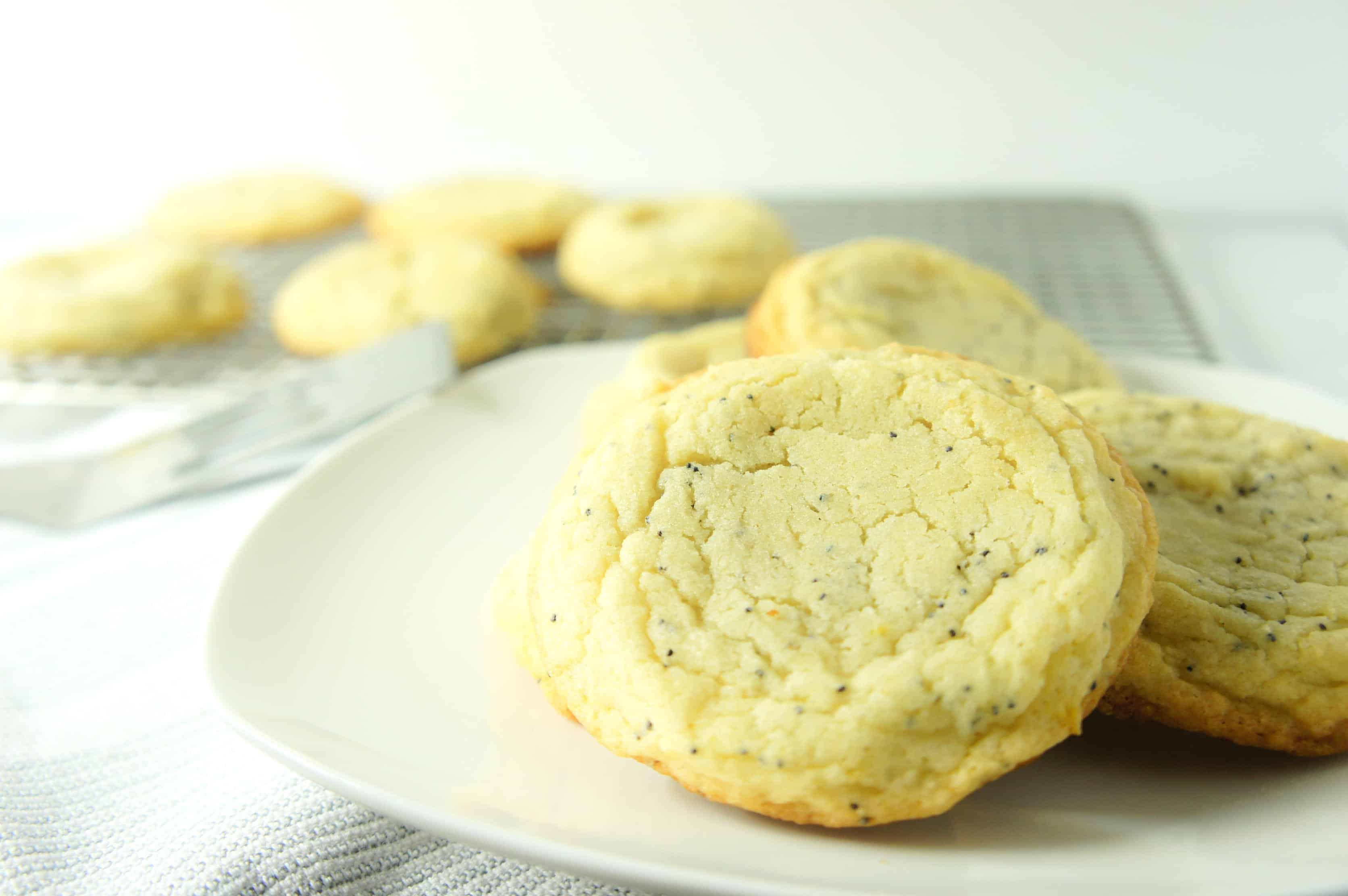 Chewy Lemon Sugar Cookies are pale, chewy and sugary.