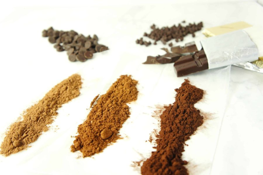 A Variety of chocolate used in cooking