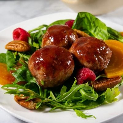 Raspberry Glazed Meatballs