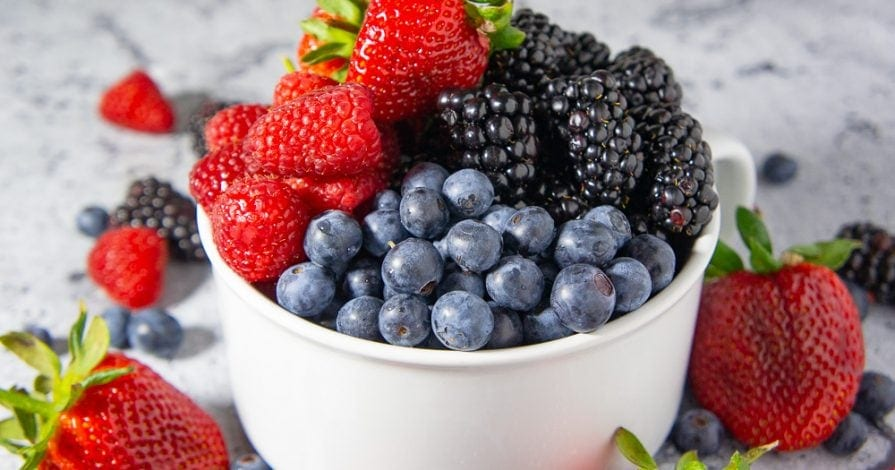 A bowl of mixed berries
