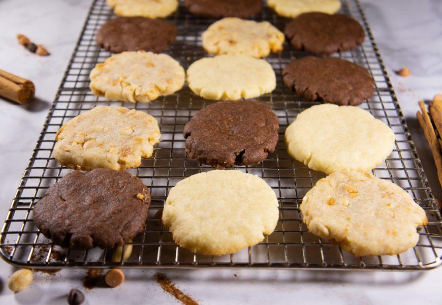 rack of shortbread cookies