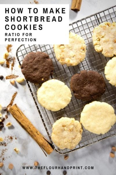 cooling rack of chocolate and plain shortbread cookies