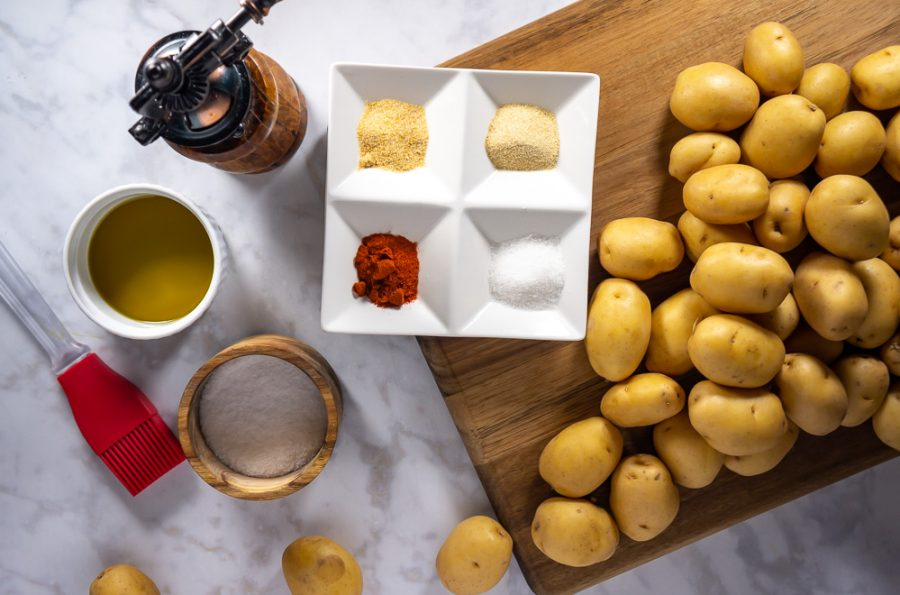 ingredients for easy oven roasted potatoes
