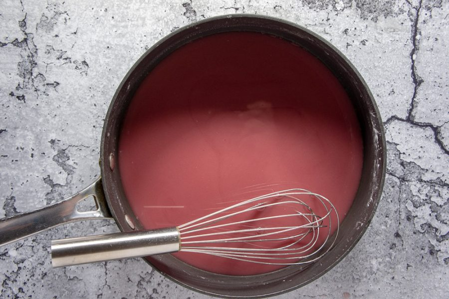 cornstarch red wine mixture