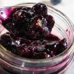 jar of blueberry compote