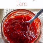 small jar of strawberry jam