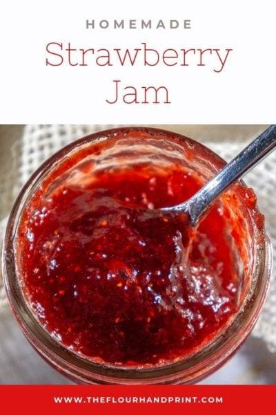small jar of strawberry jam