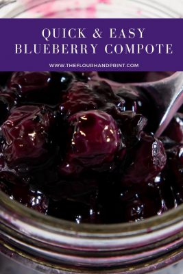 close up of blueberry compote