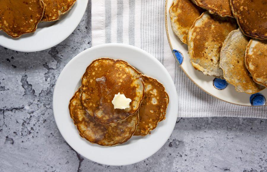 cooked buckwheat flour pancakes