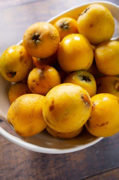 bowl of loquats
