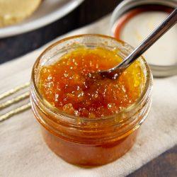 loquat jam in a small jar