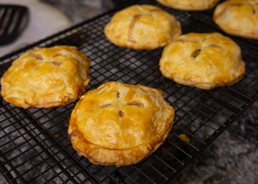 peach hand pies cooling