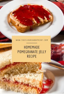 peanut butter and pomegranate jelly sandwich