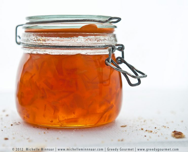 seville orange marmalade in a jar