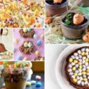 collage of easter chocolate treats