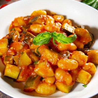 Gnocchi With Tomato Sauce and Zucchini