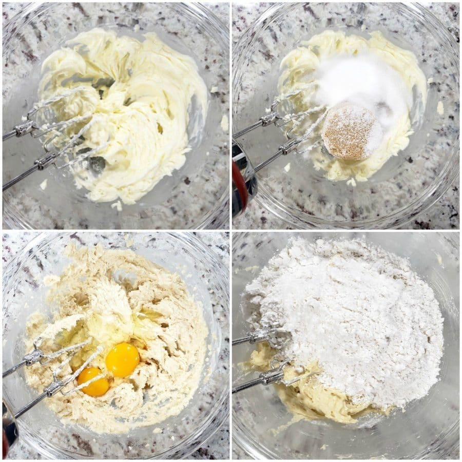 the process of creaming butter and sugar