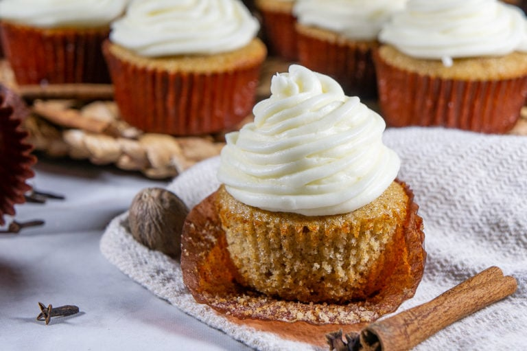 Spice Cupcakes with Cream Cheese Frosting