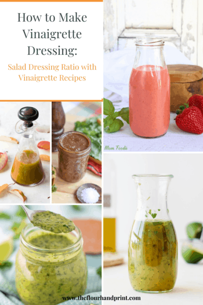 A collage of salad dressings