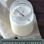 a jar of spice infused coffee creamer