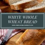 white whole wheat bread sliced from two angles