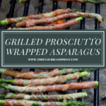 Prosciutto wrapped asparagus on the grill