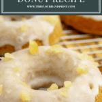 a baked lemon donut