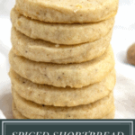 A stack of spiced shortbread cookies
