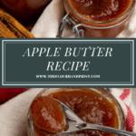jars of apple butter beside an open jar of apple butter