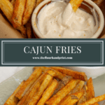 cajun fries on a platter and in a bowl