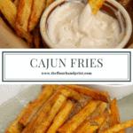 cajun fries with homemade aioli
