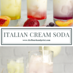 three Italian cream sodas with one being made below them
