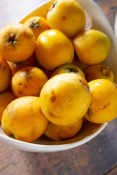 a big bowl of loquats