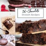 collage of chocolate dessert recipes