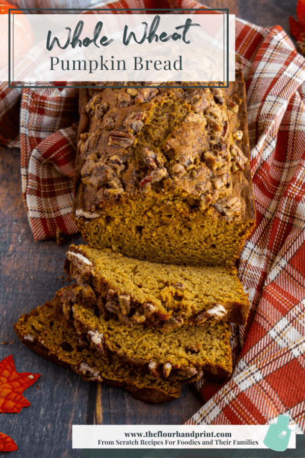 healthy pumpkin bread with several slices layered in front