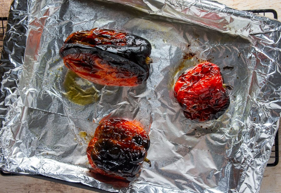 peppers roasted in the oven