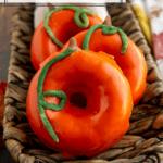 a platter of pumpkin donuts
