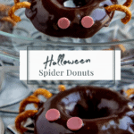 spider donuts on a silver table
